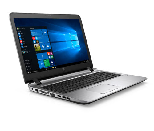 "SEE IMPORTANT *NOTES*. HP ProBook 450 G3 (15"", Asteroid, non-touch) with Windows 10 screen, Catalog, Right facing"